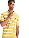 U.S. Polo Assn. Green Slim Fit Striped Polo Shirt