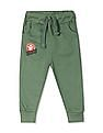 Donuts Green Boys Solid Knit Joggers