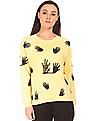 SUGR Shadow Printed Crew Neck Sweater