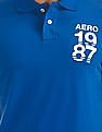 Aeropostale Appliqued Jersey Polo Shirt