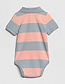 GAP Baby Boy Stripe Short Sleeve Polo Bodysuit