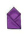 Arrow Purple Contrast Hem Solid Pocket Square