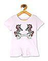 The Children's Place Toddler Girl Short Sleeves Embellished Peplum Top