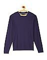 Cherokee Blue Long Sleeve Crew Neck Sweater