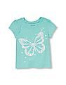 The Children's Place Toddler Girl Short Sleeve Glitter Butterfly Graphic Tee