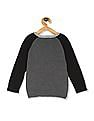 The Children's Place Toddler Boy Grey Intarsia Raglan Sleeve Sweater