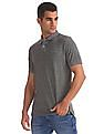 Aeropostale Regular Fit Heathered Polo Shirt