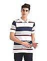 Ruggers White Striped Pique Polo Shirt