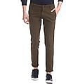 Ruggers Brown Mid Rise Solid Trousers