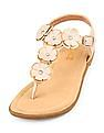 The Children's Place Girls Floral T-Strap Sandals