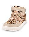 The Children's Place Girls Leopard Print Sequinned Sneakers