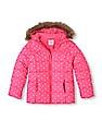 The Children's Place Girls Polka Dot Print Puffer Jacket