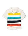 The Children's Place Baby Short Sleeve Striped Polo Shirt