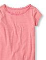 The Children's Place Girls Pink Short Sleeve Sleep Top