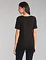GAP Women Black Pure Body Modal Short Sleeve Tee