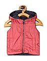 Donuts Pink And Navy Girls Reversible Gilet Jacket