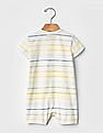 GAP Baby Multi Colour Organic Stripe Shortie One-Piece